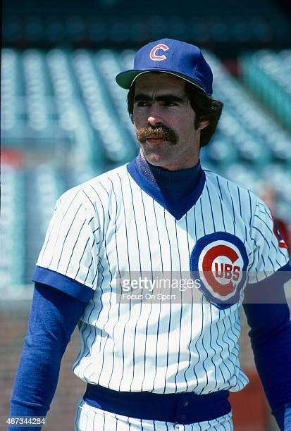 Bill Buckner of the Chicago Cubs looks on prior to the start of a Major League Baseball game circa 1979 at Wrigley field in Chicago Illinois Buckner...