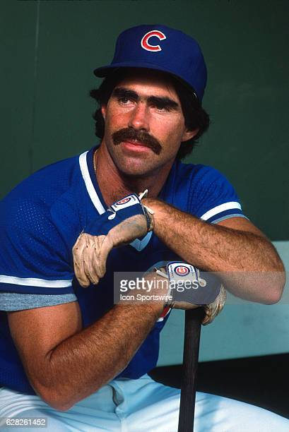 Bill Buckner of the Chicago Cubs sits in the dugout