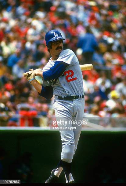 Bill Buckner of the Los Angeles Dodgers bats during an Major League Baseball game circa 1974 Buckner played for the Dodgers from 196976