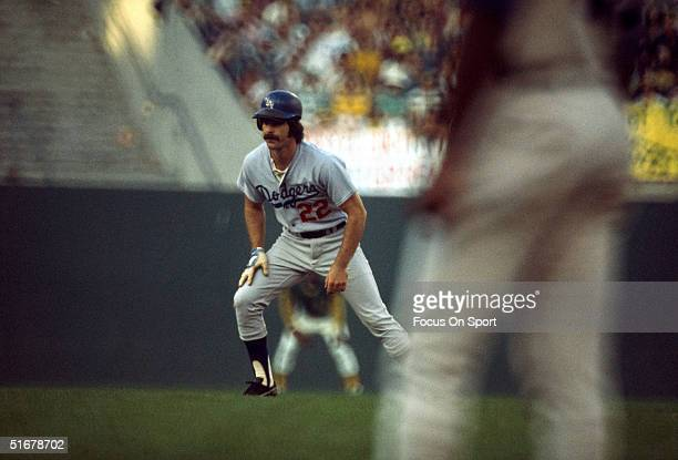 Bill Buckner of the Los Angeles Dodgers on the base paths during the 1974 World Series