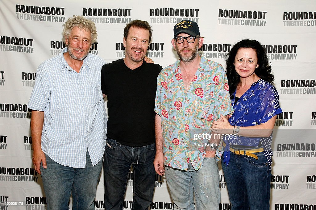 Bill Buell, Douglas Hodge, Max Baker and Geraldine Hughes attend the 'Cyrano de Bergerac' cast photocall on August 23, 2012 in New York City.