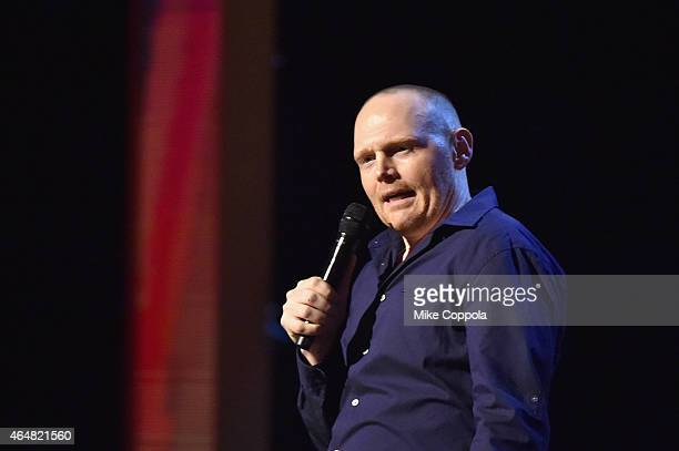 Bill Burr performs onstage at Comedy Central Night Of Too Many Stars at Beacon Theatre on February 28 2015 in New York City