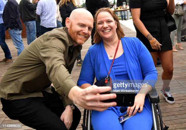 Bill Burr takes a photograph with a fan at the Netflix Adult Animation QA and Reception on April 20 2019 in Hollywood California