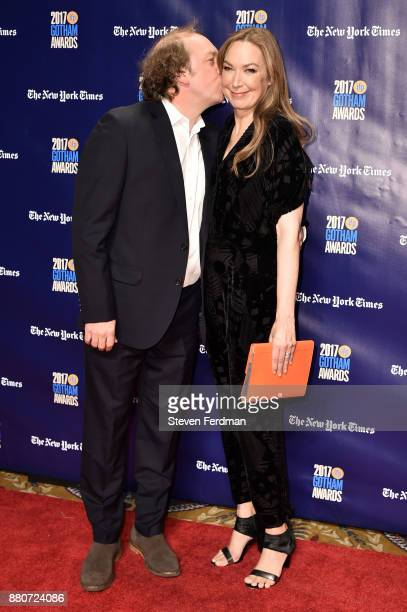 Bill Camp and Elizabeth Marvel attend IFP's 27th Annual Gotham Independent Film Awards at Cipriani Wall Street on November 27 2017 in New York City