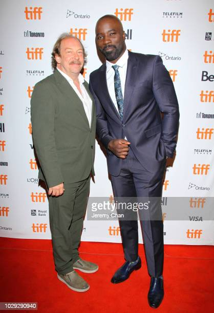 Bill Camp and Mike Colter attend the 'Skin' premiere during 2018 Toronto International Film Festival at Winter Garden Theatre on September 8 2018 in...
