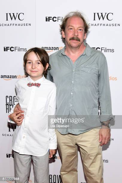 Bill Camp and son Silas Camp attend the Crown Heights New York premiere at Metrograph on August 15 2017 in New York City