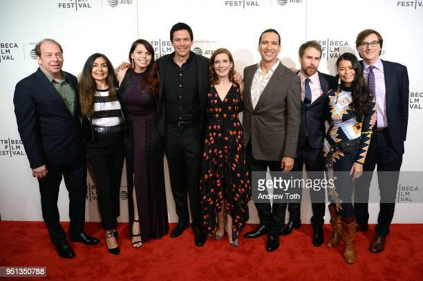 Bill Camp Chaske Spencer Erika Olde Susanna White Michael Greyeyes and Rulan Tangen attend the DIRECTTV Premiere Of Women Walks Ahead At 2018 Tribeca...
