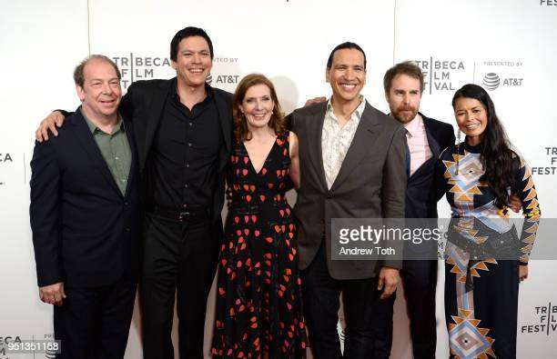 Bill Camp Chaske Spencer Erika Olde Susanna White Sam Rockwell Michael Greyeyes and Rulan Tangen attend the DIRECTTV Premiere Of Women Walks Ahead At...