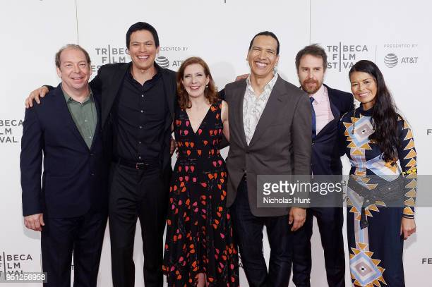 Bill Camp Chaske Spencer Susanna White Michael Greyeyes and Rulan Tangen attends the Screening of Woman Walks Ahead 2018 Tribeca Film Festival at...