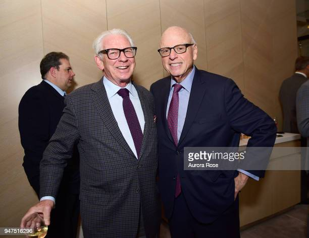 Bill Campbell and Howard M Lorber attend Launch Of New Entity Withers Global Advisors at 432 Park Avenue on April 3 2018 in New York City Bill...