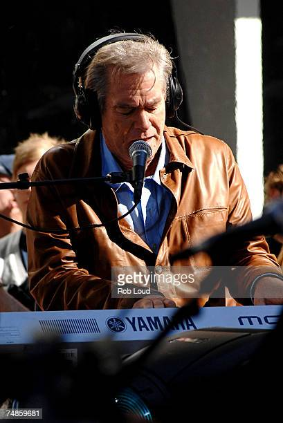 Bill Champlin of Chicago performs on NBC's 'Today' summer concert series featuring Chicago and America on June 22 2007 in New York City