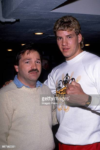 CIRCA 1989 Bill Clayton Tommy Morrison attend the Starstudded exhibition fight where Tommy The Duke Morrison demonstrates why Sylvester Stallone cast...