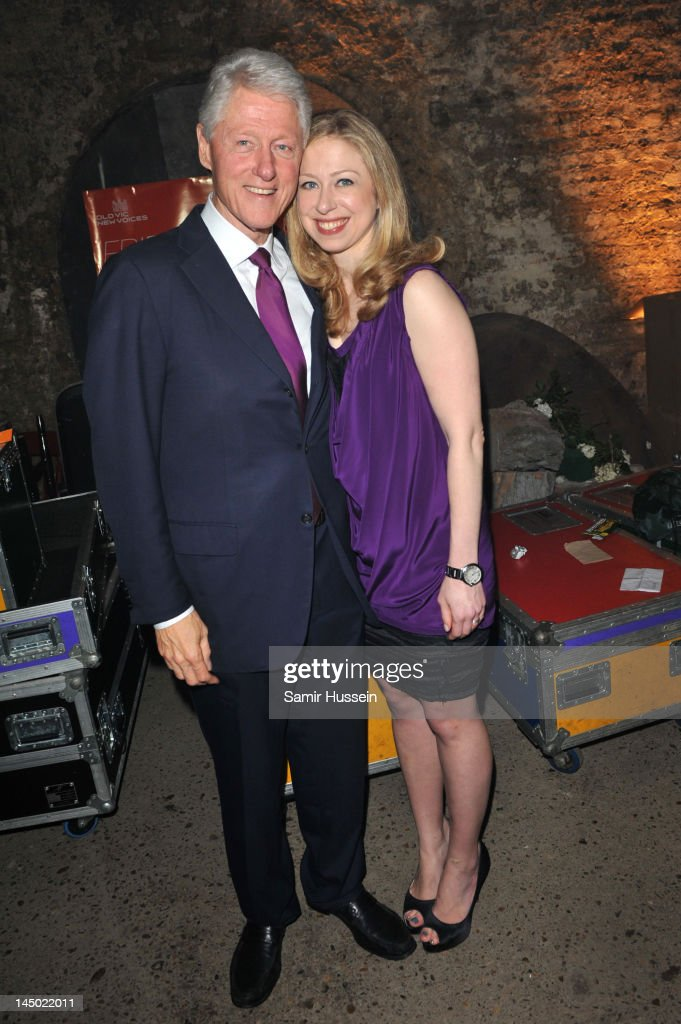 Bill Clinton and Chelsea Clinton arrive at 'A Night Out With The Millennium Network,' at the Old Vic Tunnels, presented by The Clinton Foundation and The Reuben Foundation. The evening, hosted by Bill Clinton, Chelsea Clinton, Gwyneth Paltrow and Will i Am took place on the 22nd May 2012 in London, England.