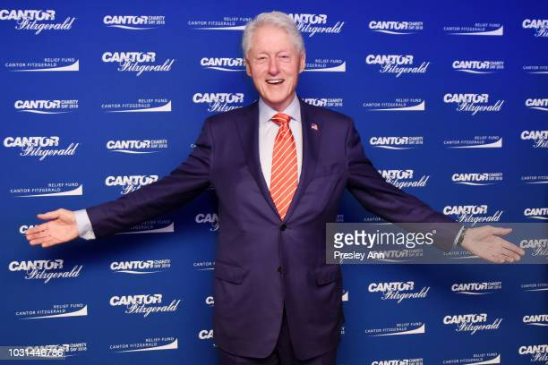 Bill Clinton attends the Annual Charity Day hosted by Cantor Fitzgerald BGC and GFI at Cantor Fitzgerald on September 11 2018 in New York City