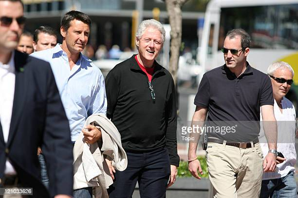 Bill Clinton during Bill Clinton Former US President on a Walkabout in Auckland February 24 2006 at Viaduct Harbour in Auckland New Zealand