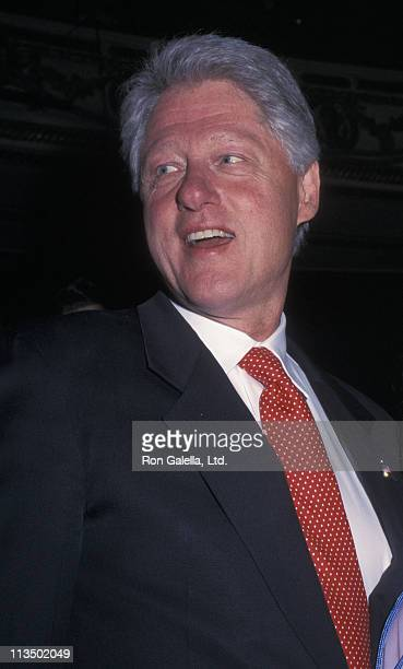 Bill Clinton during Democratic National Committee Presents A Night At The Apollo April 24 2002 at The Apollo Theater in New York City New York United...