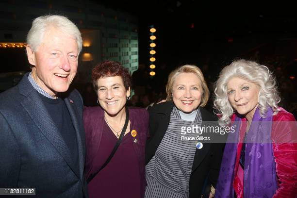 Bill Clinton Liz Abzug Hillary Clinton and Judy Collins pose at the opening night of the new Manhattan Theatre Club play Bella Bella at MTC Stage 1...
