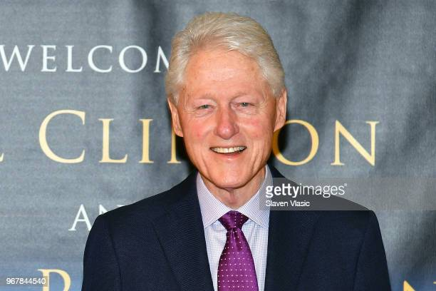 Bill Clinton signs copies of his new book cowrited with James Patterson The President Is Missing at Barnes Noble 5th Avenue on June 5 2018 in New...