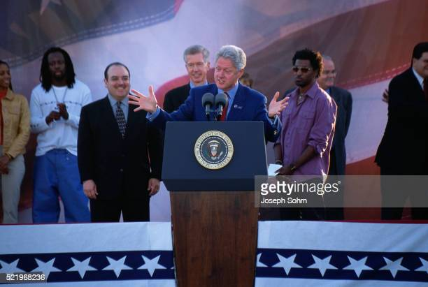 Bill Clinton Speaking at Presidential Rally