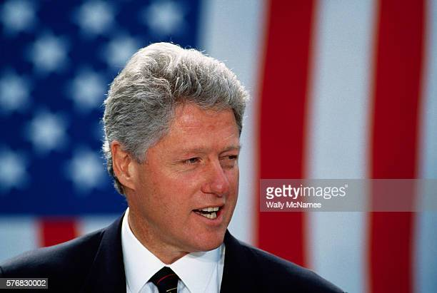 Bill Clinton Speaking at White House Event