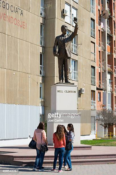 コソボのビル・クリントン像 - プリシュティナ ストックフォトと画像
