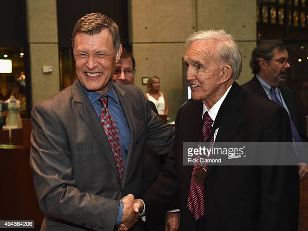 Bill Cody WSM 650AM and Ralph Emery attend The Country Music Hall of Fame 2015 Medallion Ceremony at the Country Music Hall of Fame and Museum on...