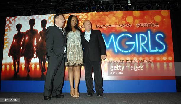 Bill Condon director Jennifer Hudson and Laurence Mark producer