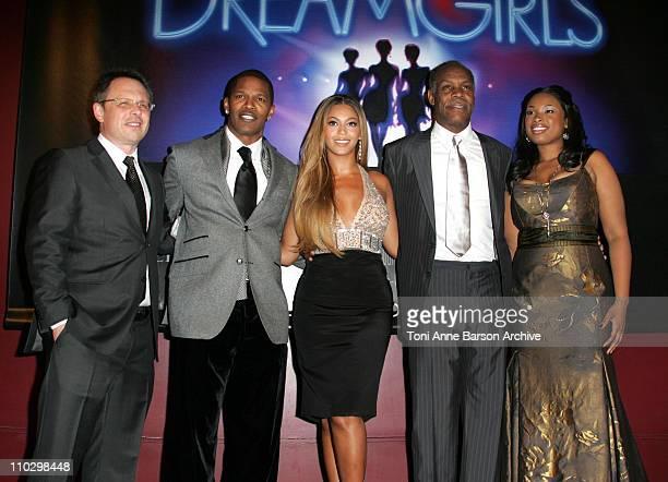 Bill Condon Jamie Foxx Beyonce Knowles Danny Glover and Jennifer Hudson