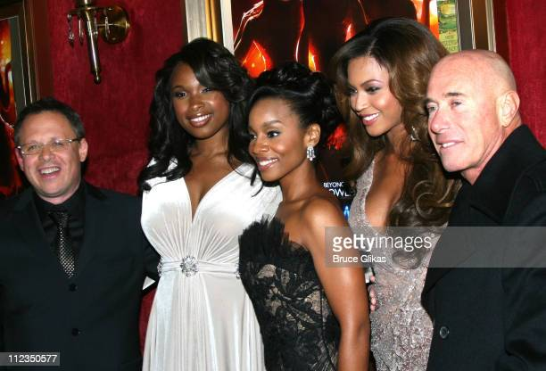 Bill Condon Jennifer Hudson Anika Noni Rose Beyonce Knowles and David Geffen