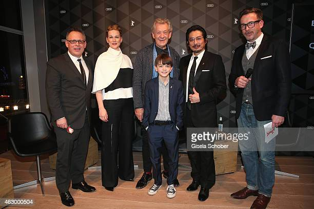 Bill Condon Laura Linney Sir Ian McKellen Milo Parker Hiroyuki Sanada and Christoph Bauer attend a QA for the film 'Mr Holmes' during the 65th...