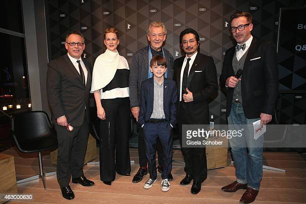 Bill Condon Laura Linney Sir Ian McKellen Milo ParkerHiroyuki Sanada and Christoph Bauer attend a QA for the film 'Mr Holmes' during the 65th...