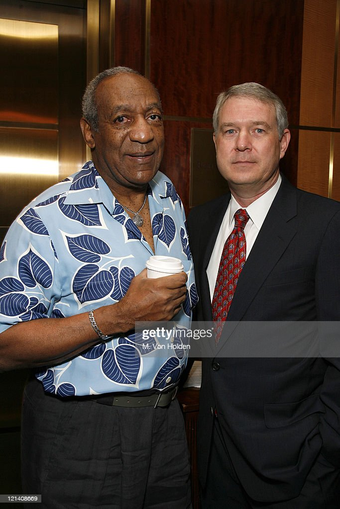 Bill Cosby and Tom Carter during The Thelonious Monk Institute of Jazz Special VIP Reception in Advance of 'Herbie's World' to Benefit Monk Institute Jazz Programs at Weill Recital Hall, Carnegie Hall in New York, New York, United States.