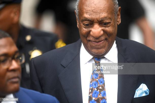 Bill Cosby arrives at the Montgomery County Courthouse on the first day of sentencing in his sexual assault trial on September 24 2018 in Norristown...