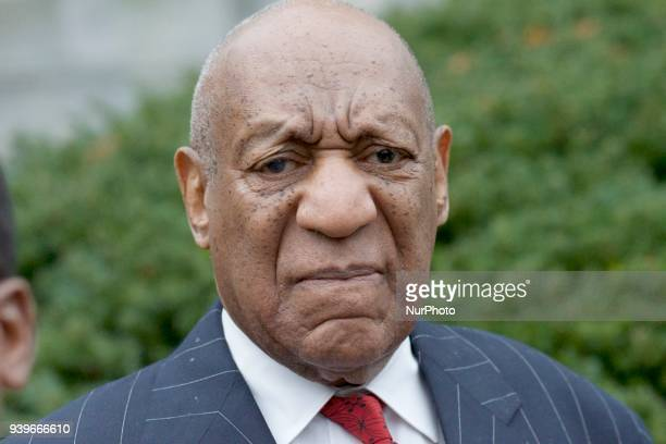 Bill Cosby arrives for a March 29 2018 pretrial hearing at Montgomery County Courthouse in Norristown PA The sexual assault trial against the...
