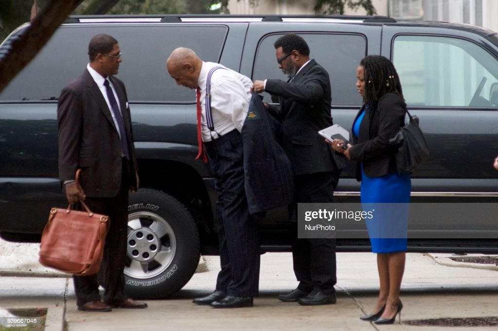 Bill Cosby arrives for a March 29, 2018 pre-trial hearing at Montgomery County Courthouse, in Norristown, PA. The sexual assault trial against the American actor/entertainer is scheduled to start on April 2nd.