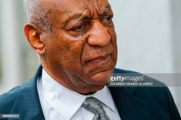 TOPSHOT Bill Cosby arrives on the sixth day of jury deliberations of his sexual assault trial at the Montgomery County Courthouse on June 17 2017 in...