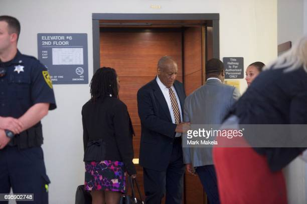 Bill Cosby arrives on the third day of jury deliberations of his sexual assault trial at the Montgomery County Courthouse a June 14, 2017 in...