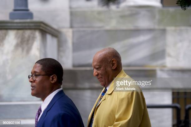 Bill Cosby departs the Montgomery County Courthouse after the twelfth day of his sexual assault retrial on April 24 2018 in Norristown Pennsylvania...