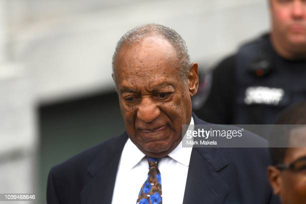 Bill Cosby departs the Montgomery County Courthouse on the first day of sentencing in his sexual assault trial on September 24 2018 in Norristown...