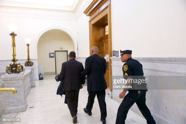 Bill Cosby departs the Montgomery County Courthouse with his publicist, Andrew Wyatt, after being found guilty on all counts in his sexual assault...