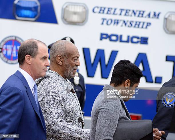 Bill Cosby is led from the Cheltenham Police Station after his arraignment at Montgomery County District Court on sexual assault charges December 30...