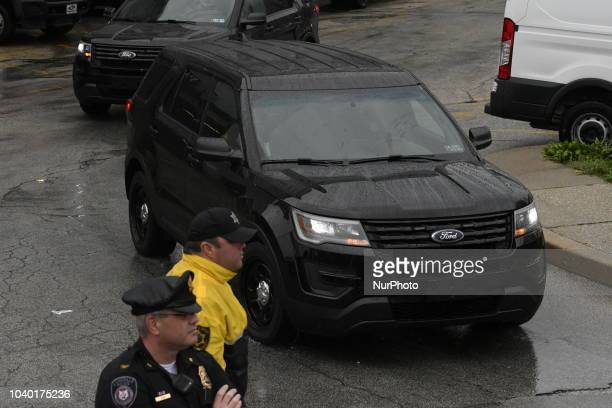 Bill Cosby is let out in handcuffs after hearing the sentence of three to ten years at Montgomery Courthouse in Norristown PA on September 25 2018...