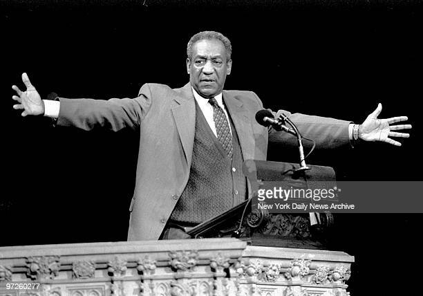Bill Cosby remembers Cab Calloway during memorial services for Calloway at Cathedral of St John the Divine