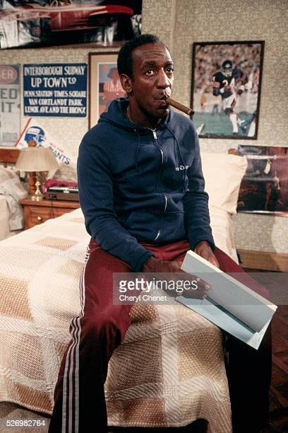"Bill Cosby Smoking Cigar on ""Cosby Show"" Set"