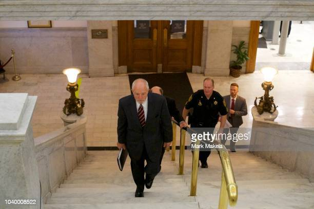 Bill Cosby's lawyer Philip C. Green walks through the Montgomery County Courthouse on the second day of sentencing in Cosby's sexual assault trial on...
