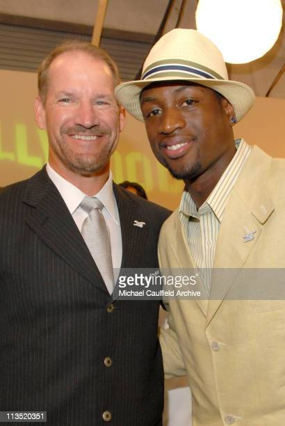 Bill Cowher and Dwyane Wade during 2006 ESPY Awards After Party at Kodak Theatre in Hollywood California United States