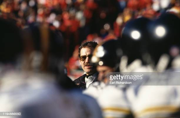 Bill Cowher Head Coach for the Pittsburgh Steelers during the American Football Conference Wild Card game against the Kansas City Chiefs on 8th...