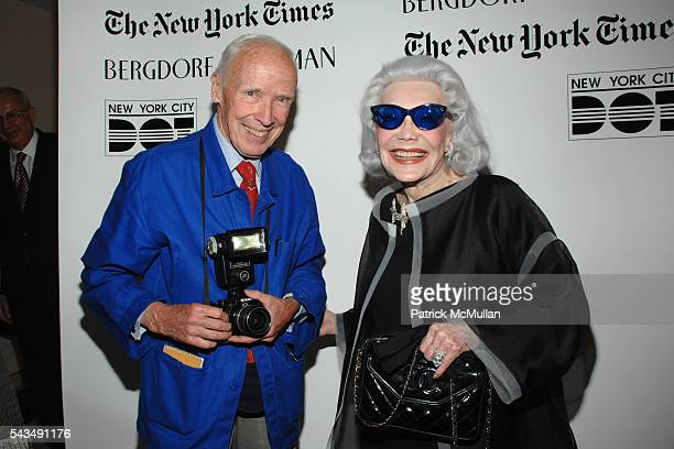 Bill Cunningham and Anne Slater attend The New York Times Bergdorf Goodman Celebrate a Photography Retrospective by Bill Cunningham at Bergdorf...