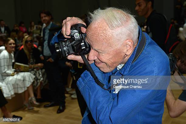Bill Cunningham attends the Chloe show as part of the Paris Fashion Week Womenswear Spring/Summer 2015 on September 28 2014 in Paris France