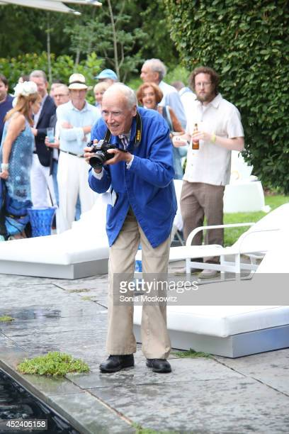 Bill Cunningham attends the Longhouse Reserve 2014 'White Hot Blue 2' Benefit Gala at LongHouse Reserve on July 19 2014 in East Hampton New York